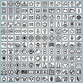 144 Business, Web, Media and Misc Universal Icons. eps version at my gallery