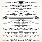 Ornamental Design Elements. Ornamental Lines to Embellish your Book, Invitation, Card or Menu