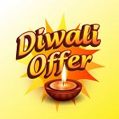 vector diwali offer design illustration
