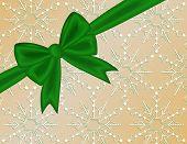 Green Holiday Ribbon Bow