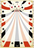 image of poker hand  - Vintage poker background - JPG