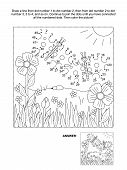 stock photo of riddles  - Connect the dots picture puzzle and coloring page - JPG