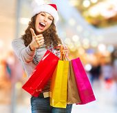 foto of mall  - Christmas Shopping - JPG