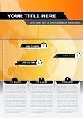 Abstract Vector technische Broschüren oder Poster-Hintergrund