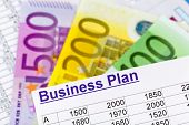 a business plan for starting a business. ideas and strategies for self-employment. euro notes.