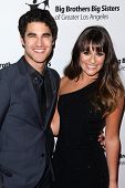 LOS ANGELES - OCT 26:  Darren Criss, Lea Michele arrives at the Big Brothers Big Sisters of Greater