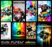 Club Flyers ultimate collection - High quality abstract full editable template designs for music pos