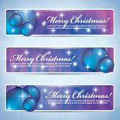 Merry Christmas banners - purple and blueish colors