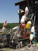 Lobster Traps And Bouys