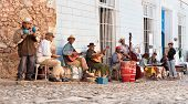 TRINIDAD, CUBA -JAN. 12:Traditional musicians playing in the streets of Trinidad on January 12, 2010