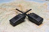 Two Black Compact Professional Portable Wireless Radio