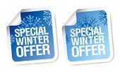 Etiquetas engomadas de la oferta especial de invierno set.