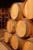 Wine Stored In Barrels