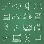 Vector images on the theme of communication