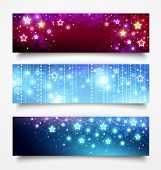Christmas banners with stars