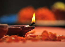 picture of dharma  - holy lamp for Diwali festival - JPG