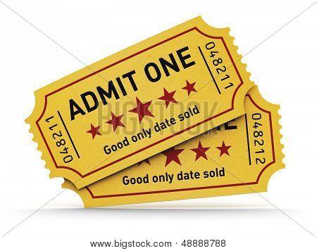 Постер, плакат: Билеты в кино, холст на подрамнике