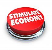 stimulieren Wirtschaft red button