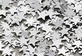 Scattered glittering stars confetti