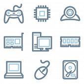Computer Icons, blaue Linie Contour series
