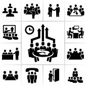 stock photo of meeting  - Meeting icons - JPG
