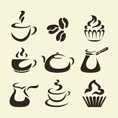 Isolates coffee icons