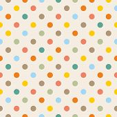 pic of dots  - Seamless vector pattern - JPG