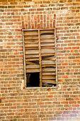 Broken Slats In Old Window