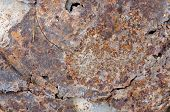 Uneven Cracked Tin Rust Stains Background