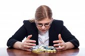 Woman With Many Pills