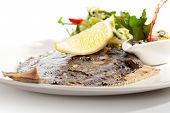 Grilled Fish with Lemon and Mixed Salad