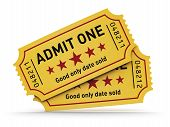 Cinema tickets mouse pad