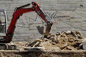 The Excavator Working