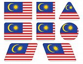Buttons With Flag Of Malaysia