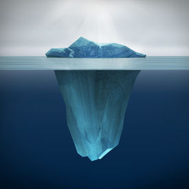 stock photo of iceberg  - This picture is 3d render of Iceberg - JPG