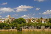 Sevilla view from Triana district Spain