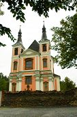 The pilgrimage church Stara Voda in Moravia
