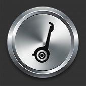 Segway Icon on Metallic Button Collection