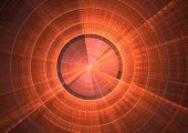 picture of sonar  - Detail view of sonar screen in fractal form - JPG
