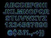 Bold Neon Alphabet