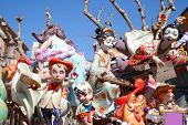 DENIA, ALICANTE, SPAIN - MARCH 18, 2012: Fallas is a popular fest with humor figures on streets that