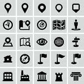 stock photo of crossroads  - Map and navigation icons - JPG