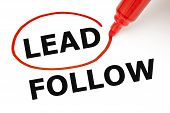 stock photo of role model  - Choosing Lead instead of Follow - JPG
