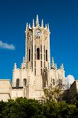 Clocktower of the Auckland University - Old Arts Building was founded in 1926. This university is th