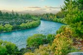 image of bend over  - Beautiful sunset over the bend of the river Clutha - JPG