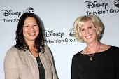 LOS ANGELES - JAN 17:  Dee Johnson, Callie Khouri at the Disney-ABC Television Group 2014 Winter Pre