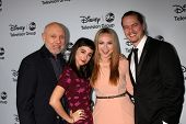 LOS ANGELES - JAN 17:  Hector Elizondo, Molly Ephraim, Amanda Fuller, Christoph Sanders at the ABC T