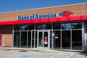 JACKSONVILLE, FLORIDA - NOVEMBER 28, 2013: A Bank of America branch bank located in Jacksonville. Bank of America is the second largest bank holding company in the US by assets.