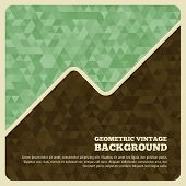 Vintage background with triangle