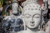 picture of inner ear  - Buddha statue in Mamallapuram Tamil Nadu India - JPG